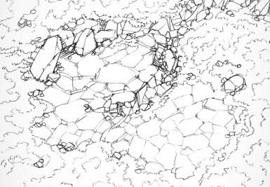 Hillside Cave (lines)