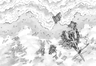 Shipwreck (b&w)