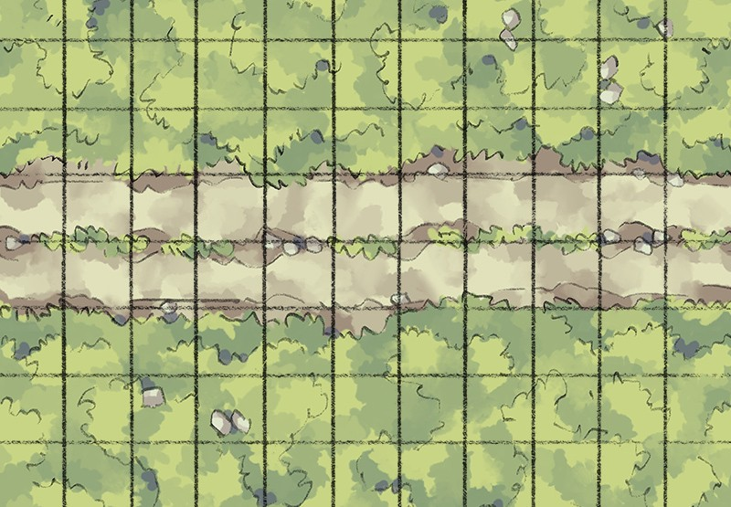 Roadside Tiling Road, Grid
