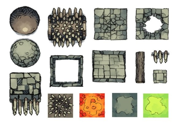 Dungeon Trap Tokens, page 1