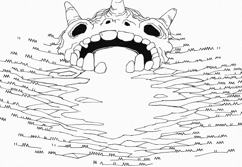Skull Cave Battle Map, lines