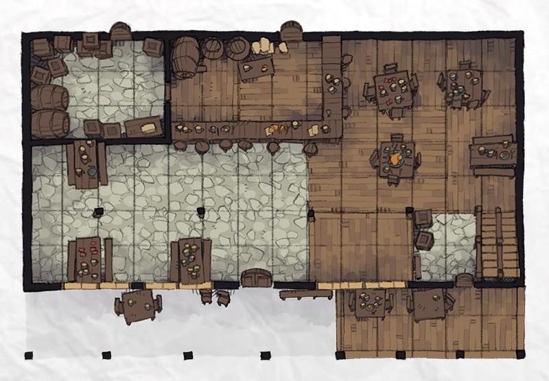 Typical Tavern, floor 1 bar restaurant