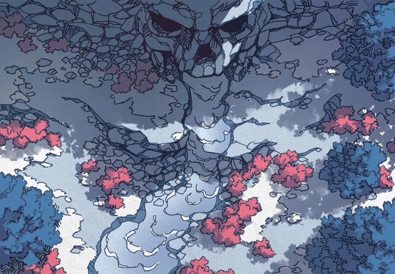 Cursed Cave battle map, color