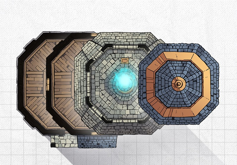 Lighthouse RPG battle map, constructed 2
