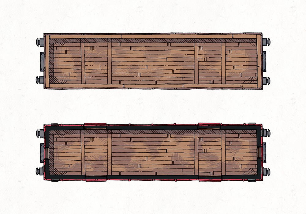 Cargo Cars, Color Preview