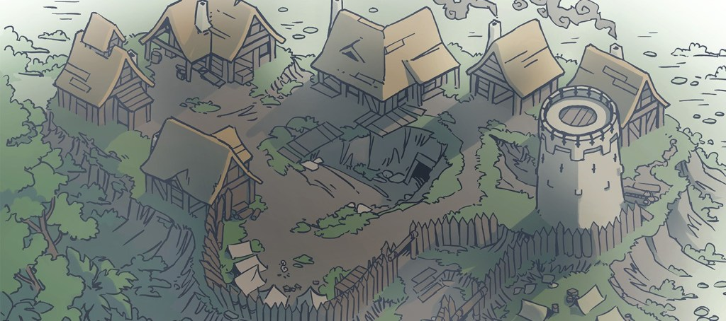 Fog's Edge Outpost Jungle Town Map, banner image