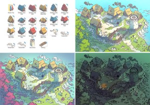 Fog's Edge Outpost Jungle Town Map, map variants