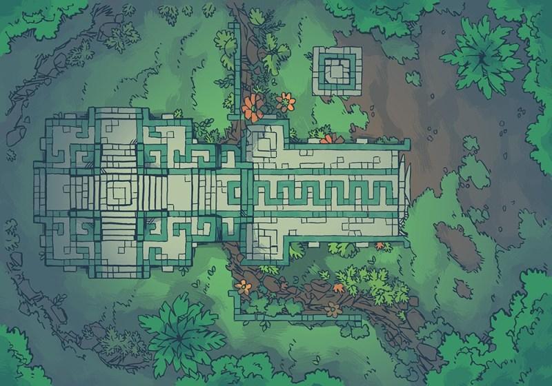 Jungle Podium battle map, deep