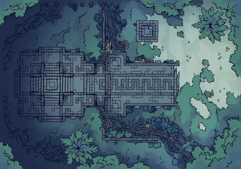 Jungle Podium battle map, master-night
