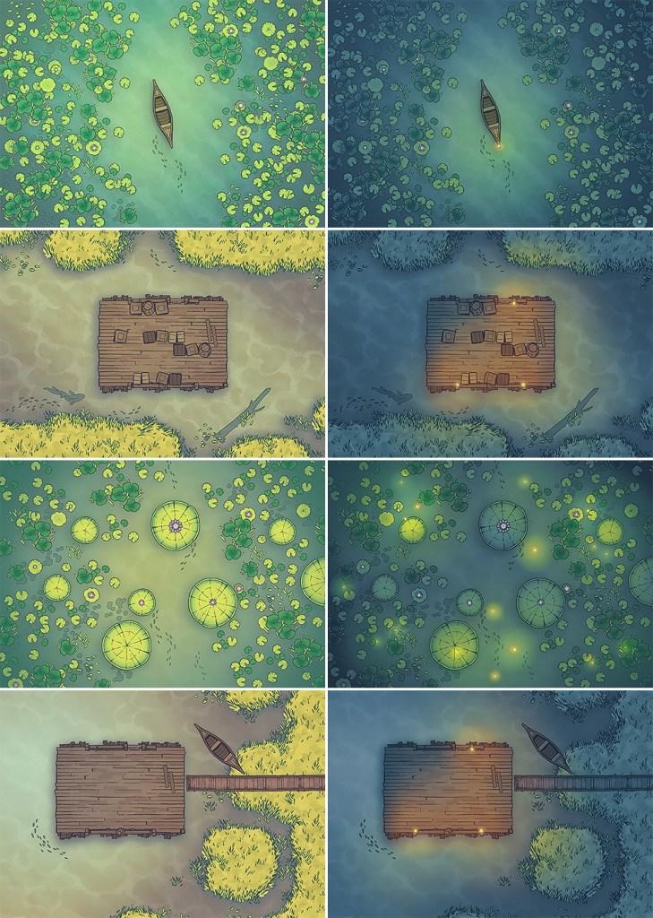 Jungle River Crossing Battle Map - Patreon Variants