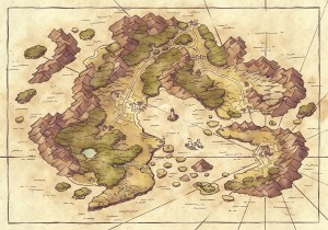 Arvyre Continent Map (23x16) Base Map