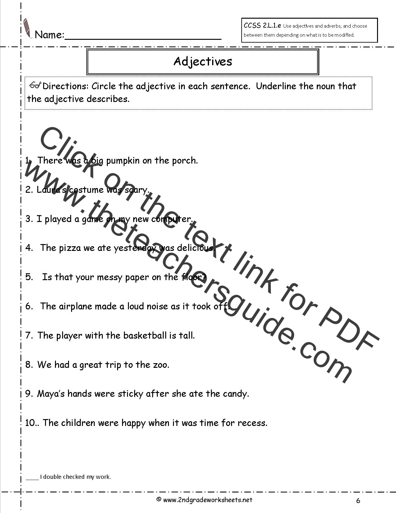 Worksheets Adverbs And Adjectives Worksheet Acuralaser