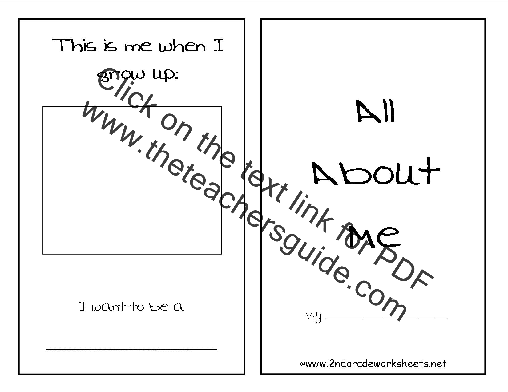 All About Me Sheets For Students