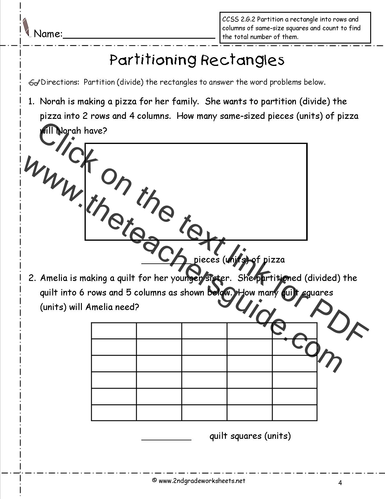 Heading 6 Column Worksheet