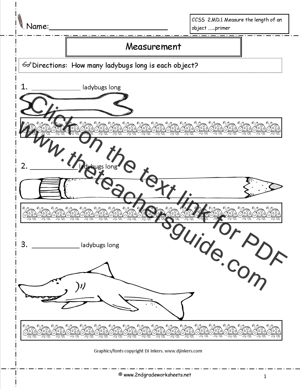 Linear Measurement Worksheet For Grade 1