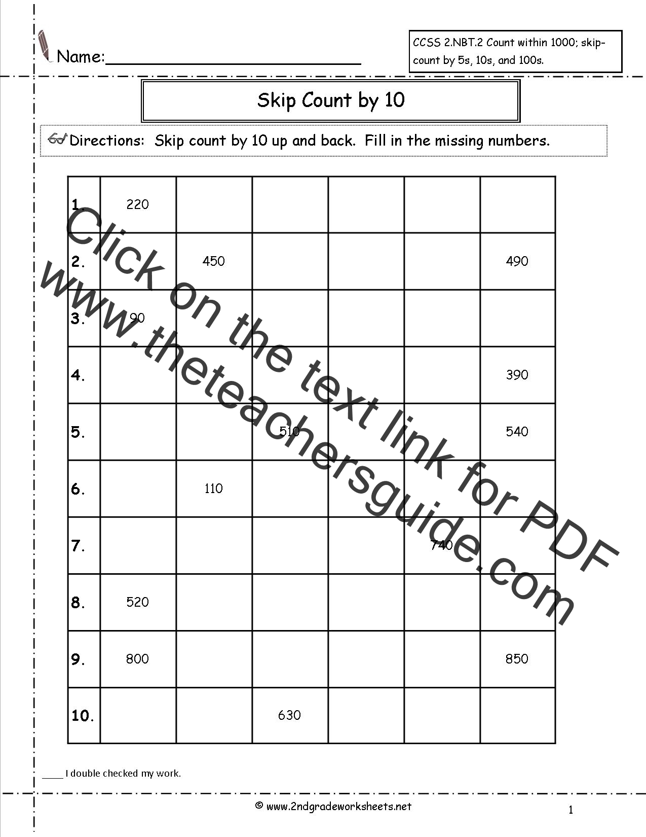 Worksheet Counting By 10 Worksheets Grass Fedjp Worksheet Study Site