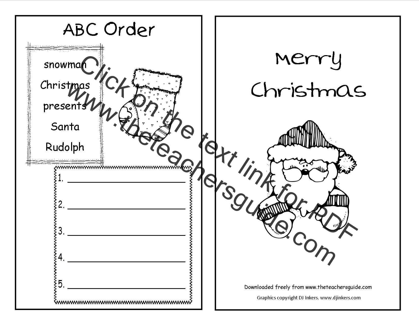 Of Christmas Worksheet
