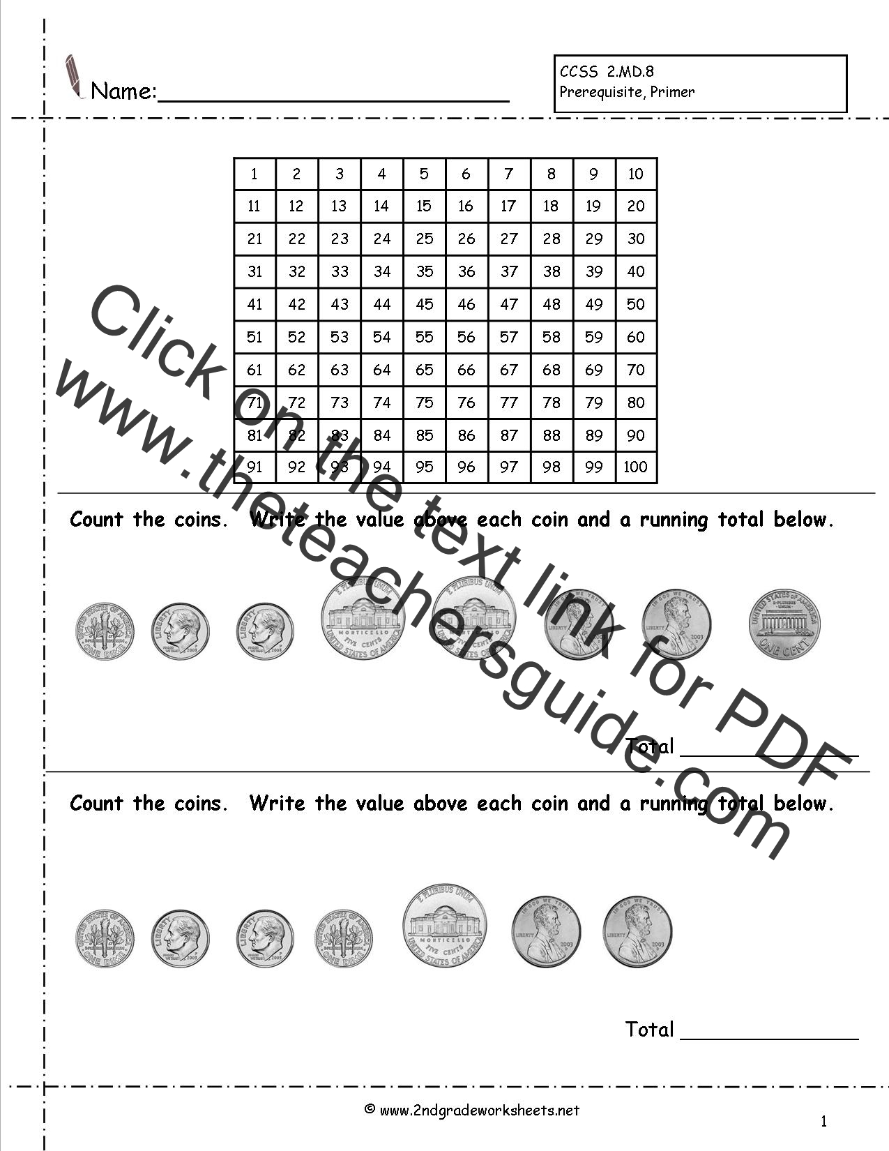 Kindergarten Worksheet Skip Counting Money