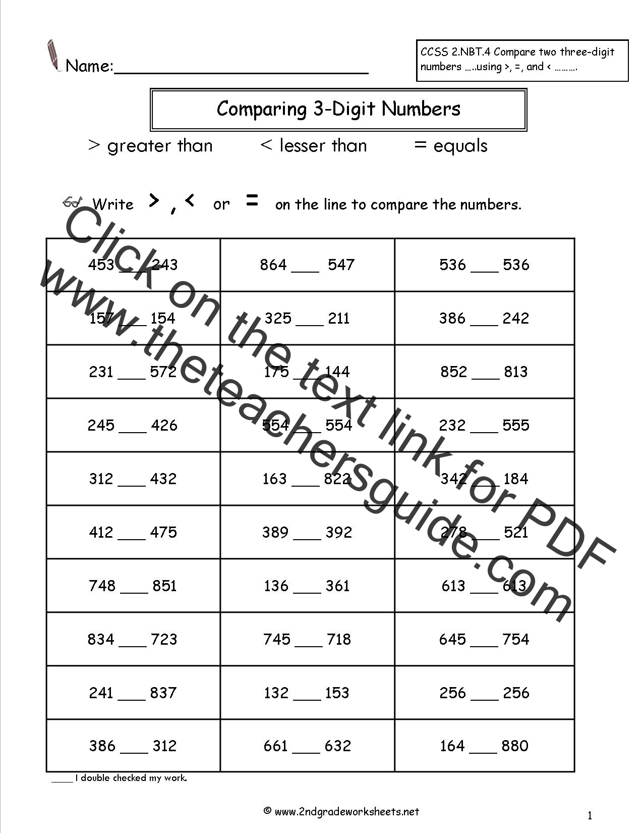 3rd Grade Compare And Contrast Worksheet