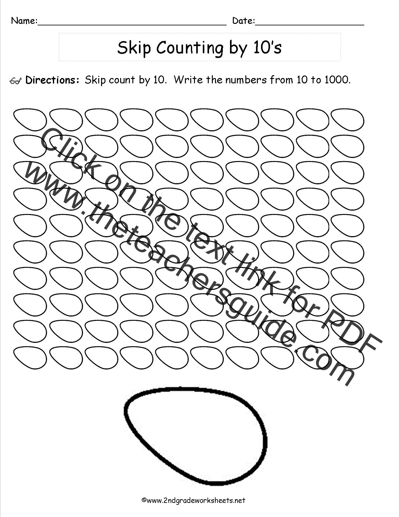 Skip Counting Worksheets To
