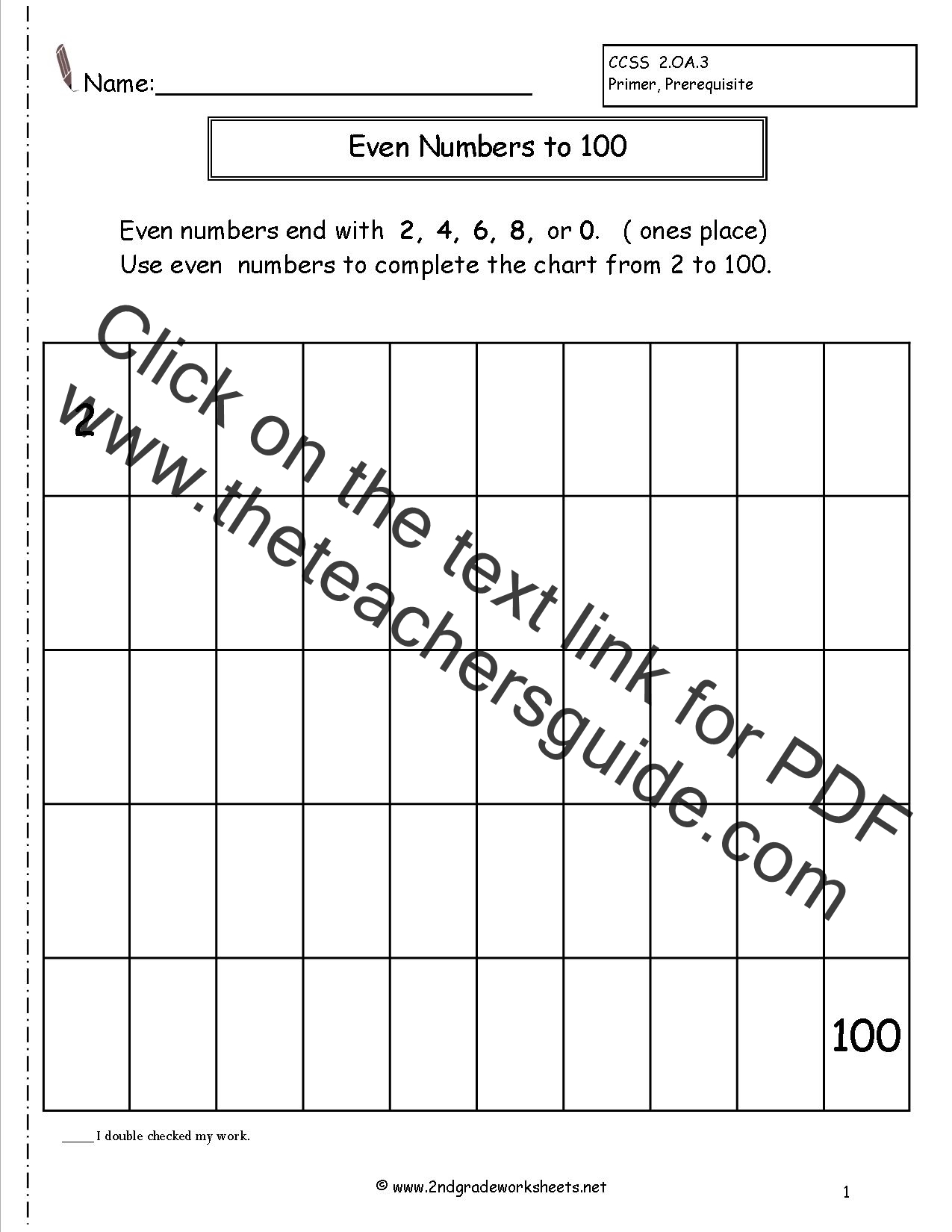 Math Worksheet Odd And Even Numbers