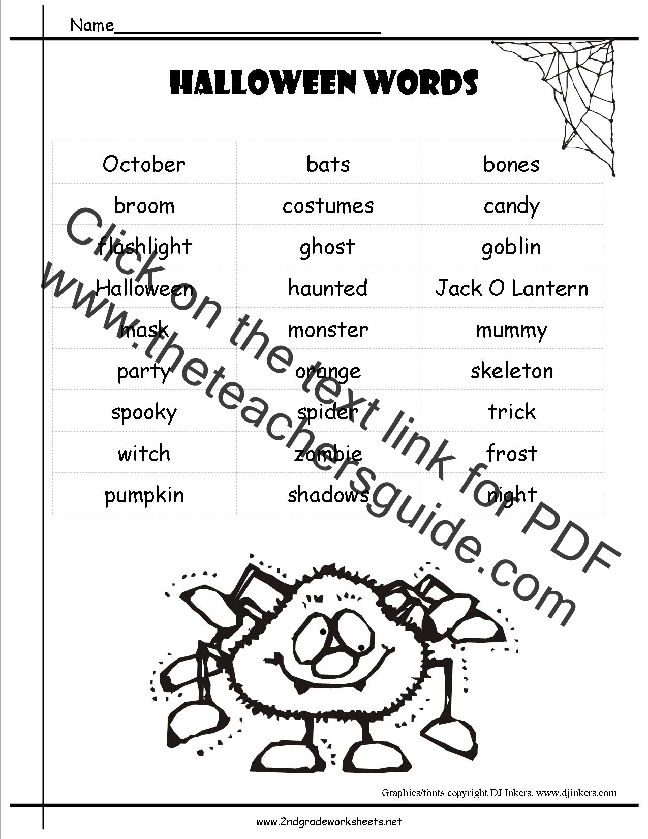 Verbs Worksheet Halloween