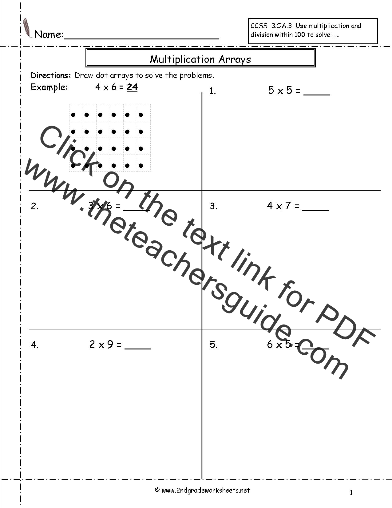 Search Results For Arrays 2nd Grade Worksheet Calendar