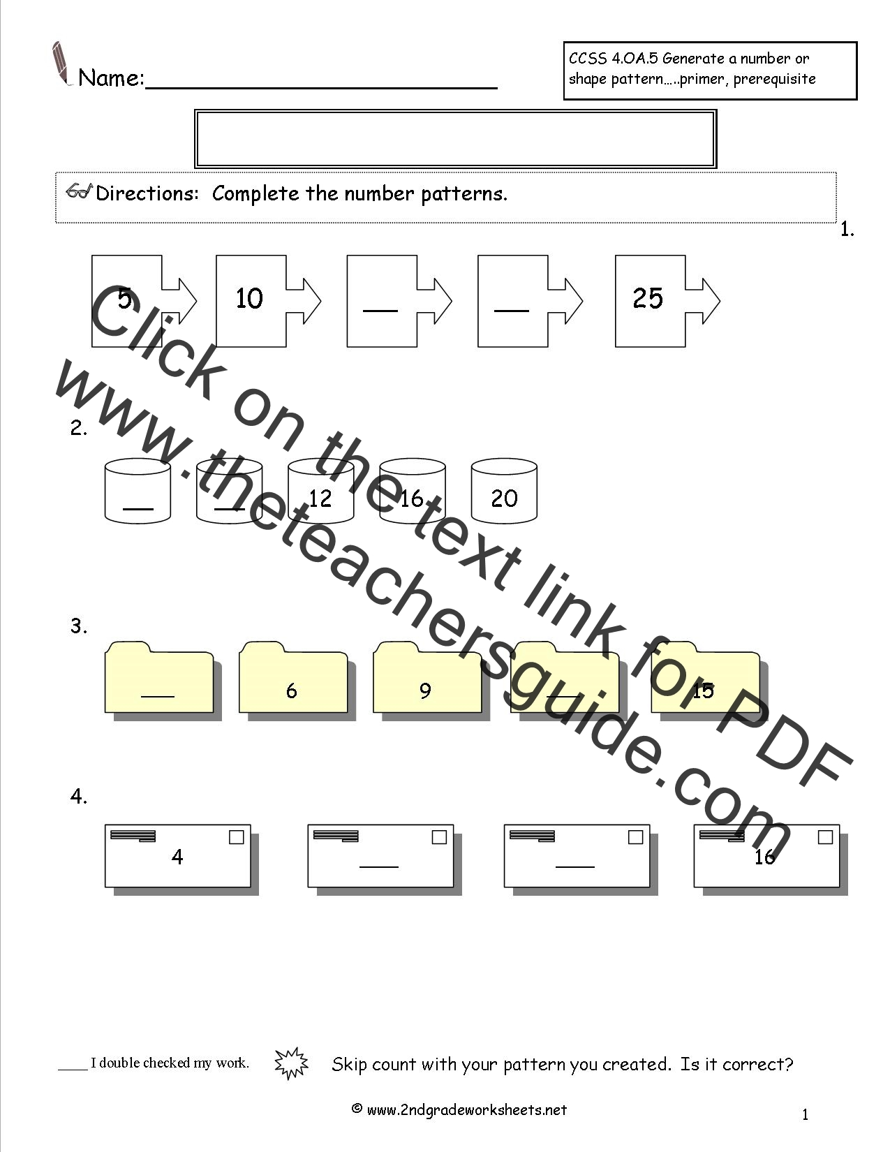 Pattern Rule Worksheet Grade 5