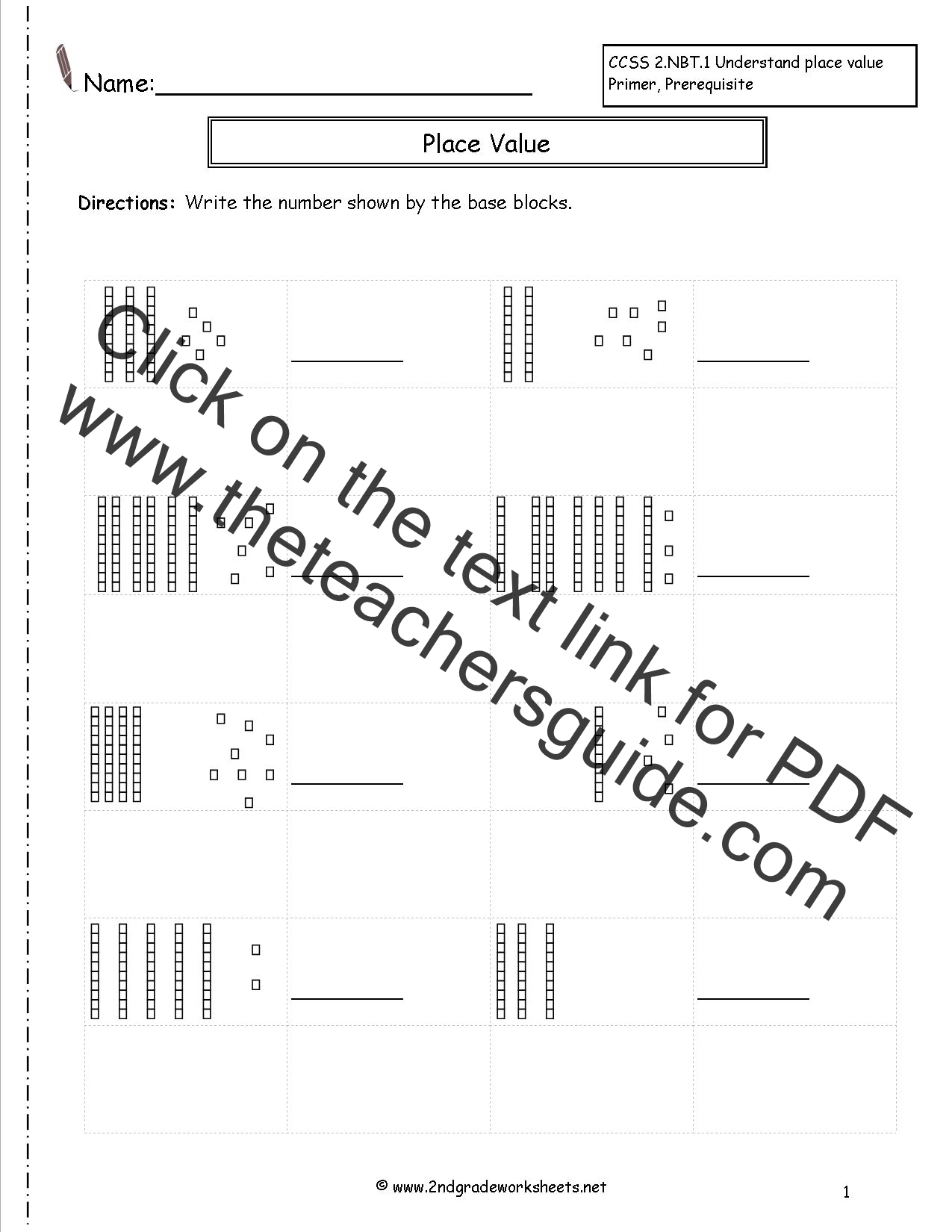 Base Ten Blocks Printable That Are Sizzling