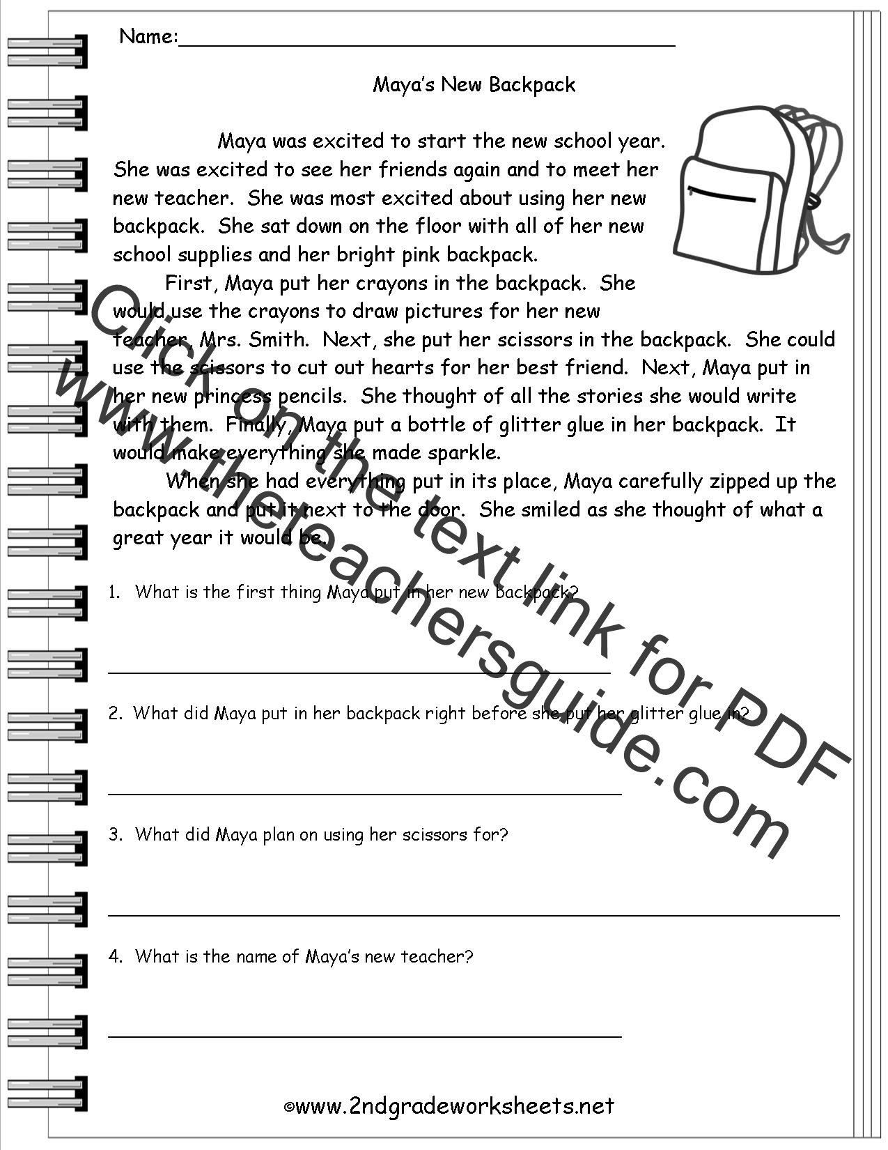 New 171 First Grade Reading Comp Worksheets