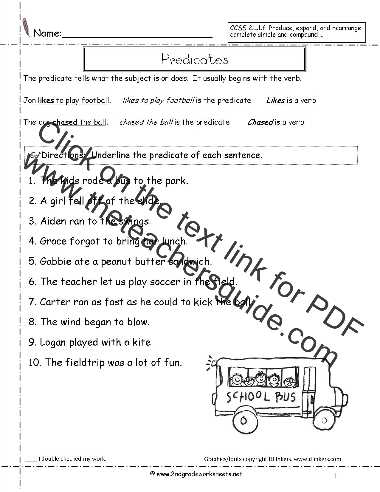 Complete Sentences Worksheet 5th Grade
