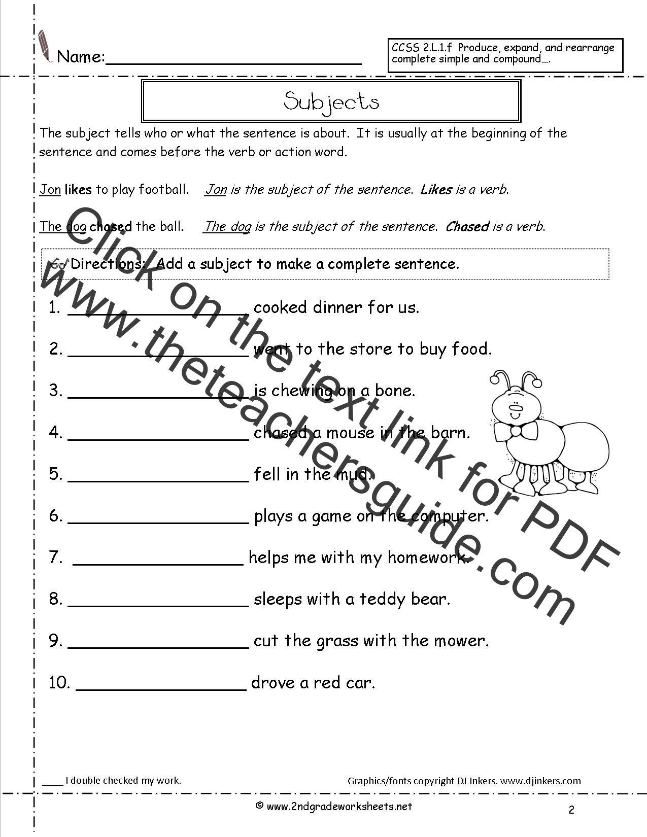 4 Kinds Of Sentences Worksheet Type Of Sentences