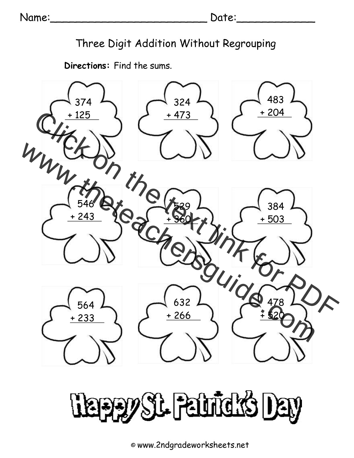 St Patrick S Day Printouts And Worksheets