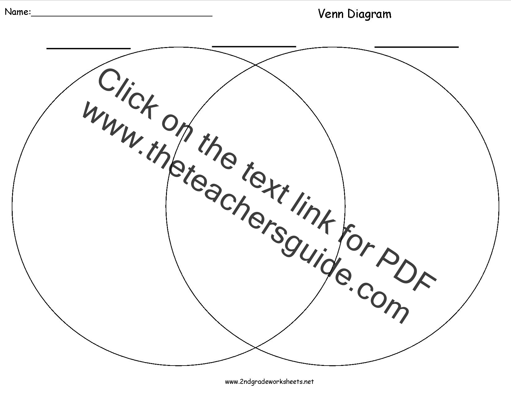 Blank Venn Diagram Worksheet