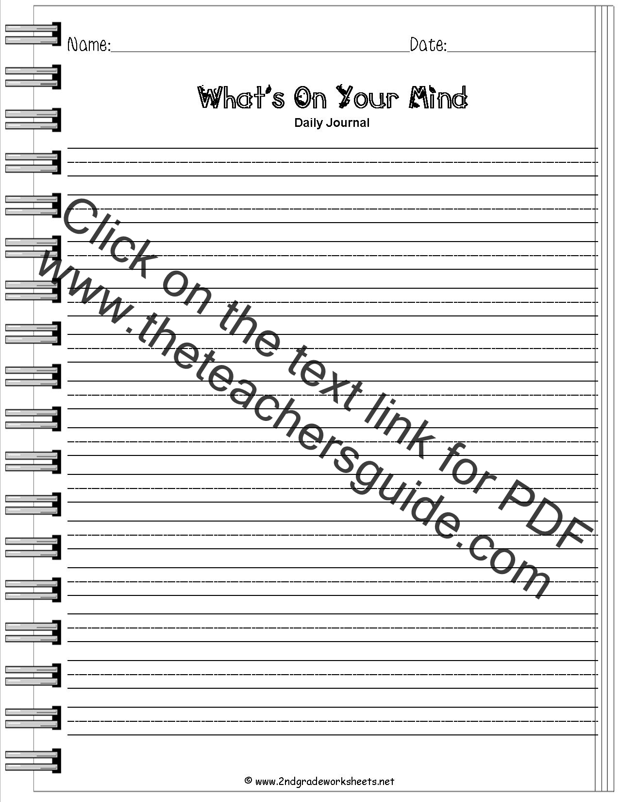 Worksheet 2nd Grade Writing Prompts Worksheets Grass