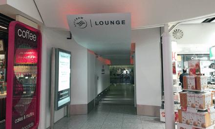 Skyteam Lounge Heathrow – Terminal 4. I was a bit disrupted.