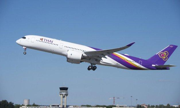 Thai Airways A350 finally makes it to Melbourne