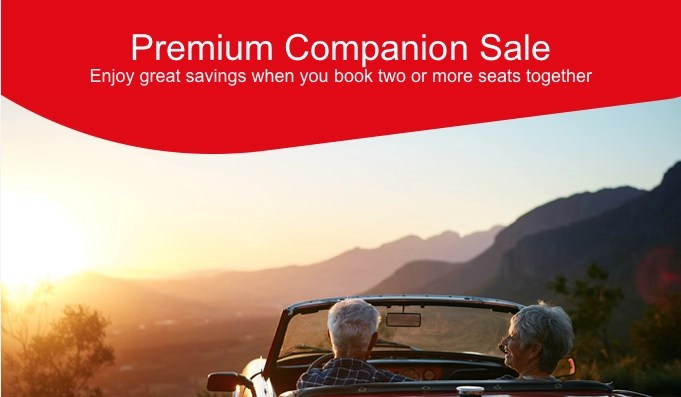 Qantas companion sale – two for the price of one – no, not really