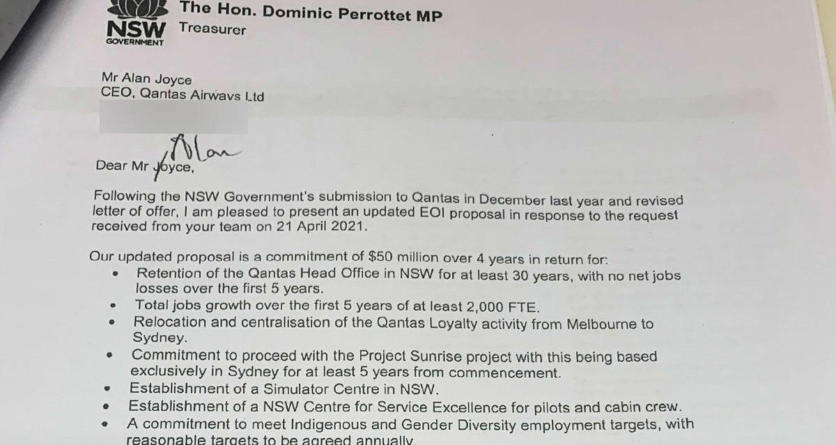 QANTAS: Takes $50 million from NSW Taxpayers