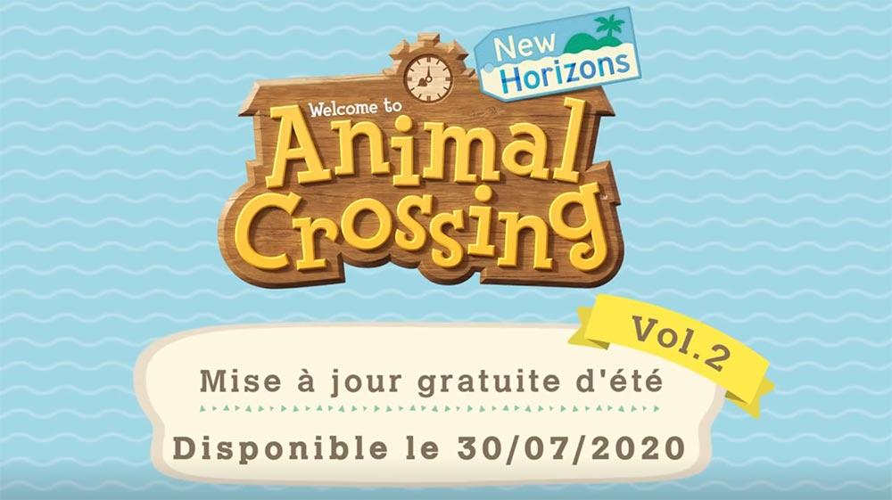 Deuxième mise à jour d'été d'Animal Crossing: New Horizons