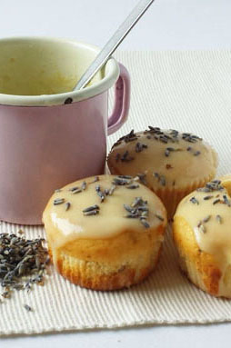 Lavender Muffins are light, delicate dessert that is easy to make and nice looking.