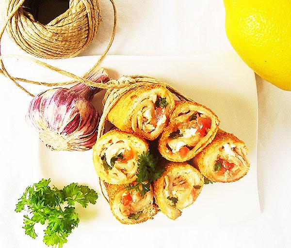 Tuna Melt French Toast Roll Ups: new way to enjoy tuna melt.