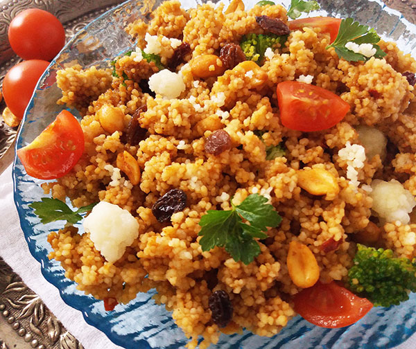 Moroccan Traditional Harissa Couscous Salad : super simple, super tasty !