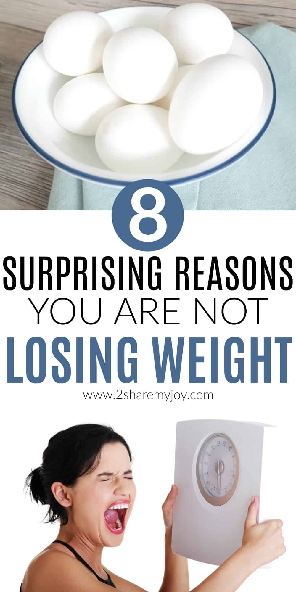 You might be asking yourself why am I not losing weight? Maybe you've tried the keto diet or the low carb diet but with no success? Click through and read 8 surprising reasons you are still not losing weight. Get motivated, get better health, and start your weightloss. #weightlossmistakes #notlosingweight #weightloss