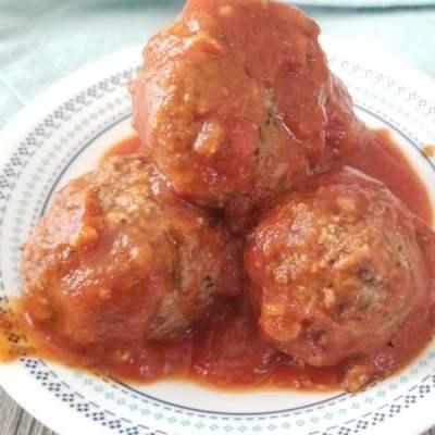 Vegan Meatballs (Beanballs) + Marinara Sauce (OF, GF)