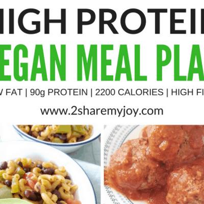 High Protein Vegan Meal Plan (2,200 calories)