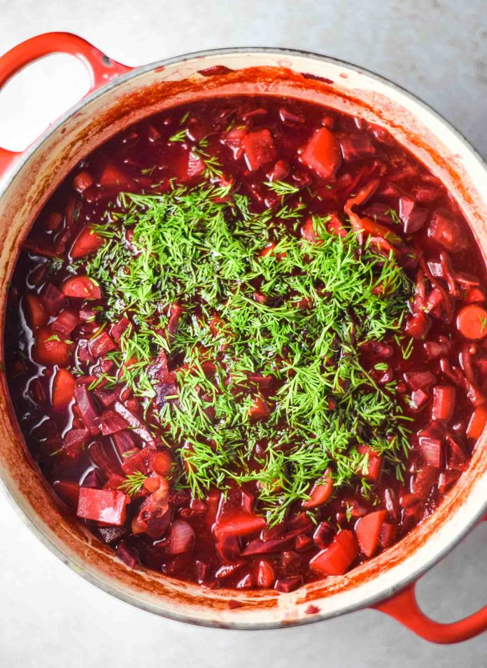 healthy vegan borscht recipe