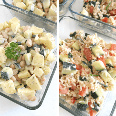 Salad Meal Prep {3 Filling Lunch Ideas}