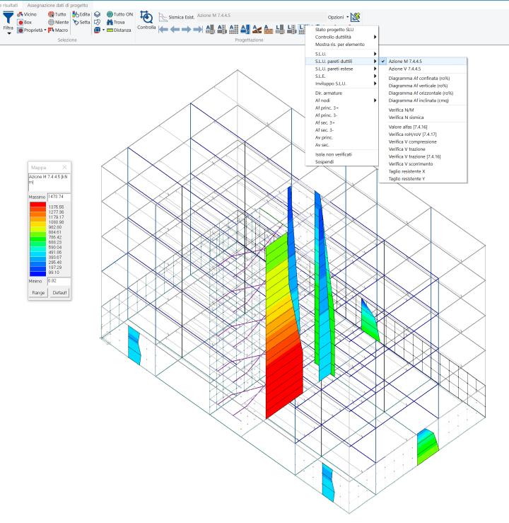 PROSAP: diagrammi delle sollecitazioni di progetto delle pareti