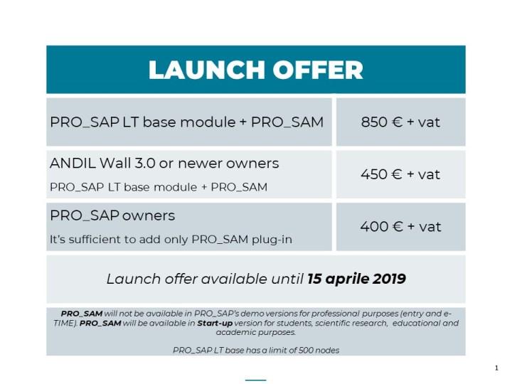 PRO_SAM launch offer